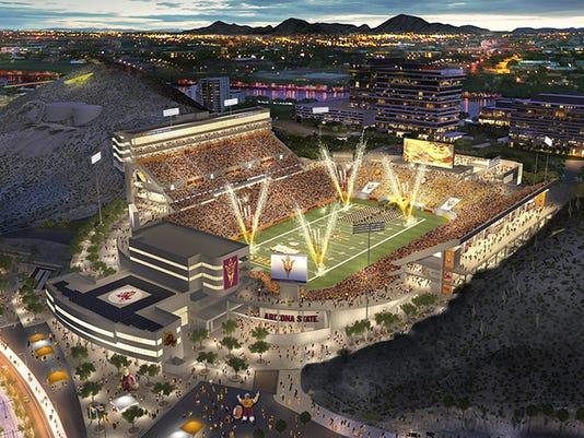 Sun Devil Stadium rendering