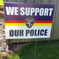 'Anti-police' thieves steal Germantown police support signs