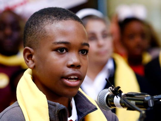 Joshua Crockett, a seventh grader at Midtown Charter