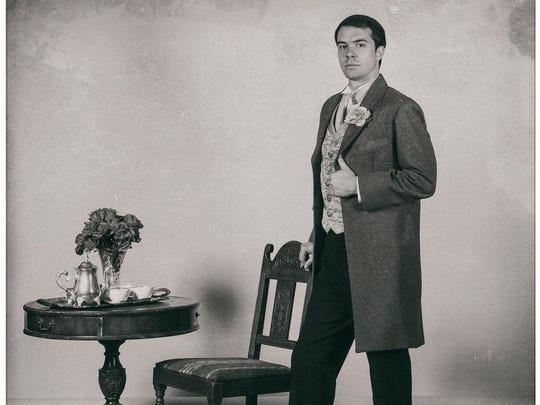 """Jeff Tagliaferro stars as Lord Darlington in the Binghamton University production of """"Lady Windermere's Fan."""""""