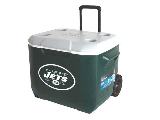 Coleman New York Jets 60-quart roll cooler