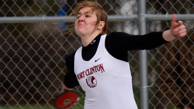 Port Clinton's Rachel Simpson qualified to state in both throwing events.