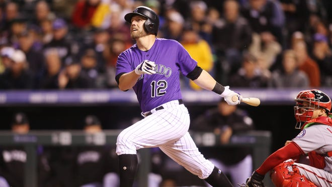 Rockies first baseman Mark Reynolds has eight homers and 23 RBI in the early going, and may not head back to the bench, even though Ian Desmond is now healthy.
