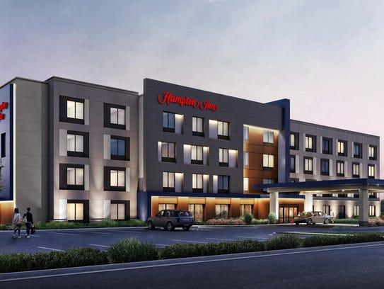 Pleasant View Hampton Inn rendering