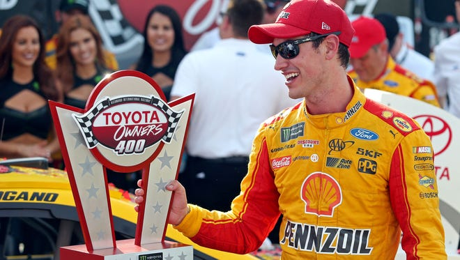 Joey Logano notched his first win of the season Sunday, at Richmond.