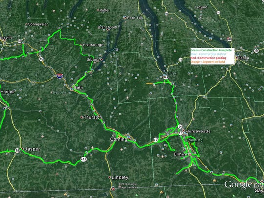 The latest progress map of the Southern Tier Network
