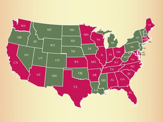 Lice populations in the states in pink have developed