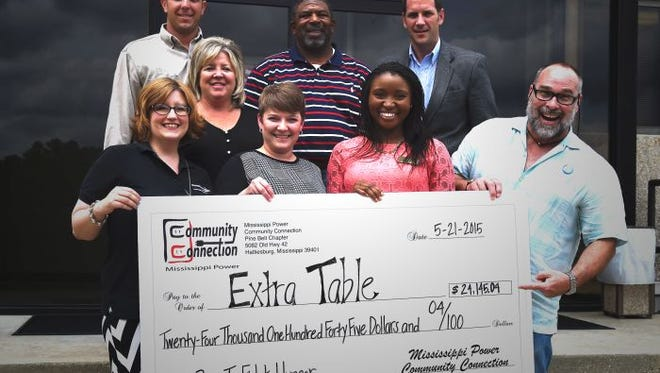 Mississippi Power donated $24,000 to Extra Table.