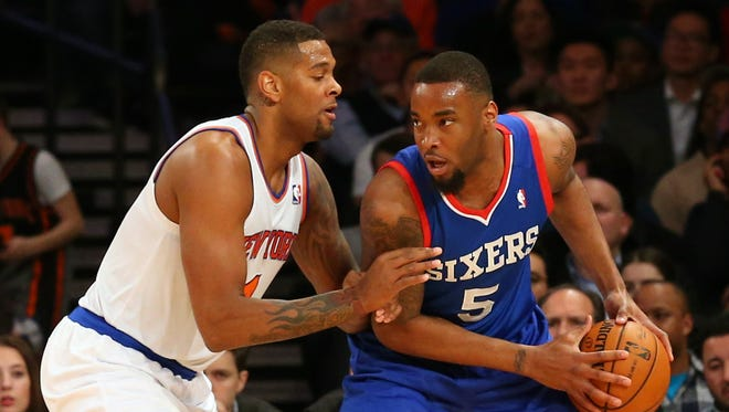 Sixers forward Arnett Moultrie played sparingly before his suspension.