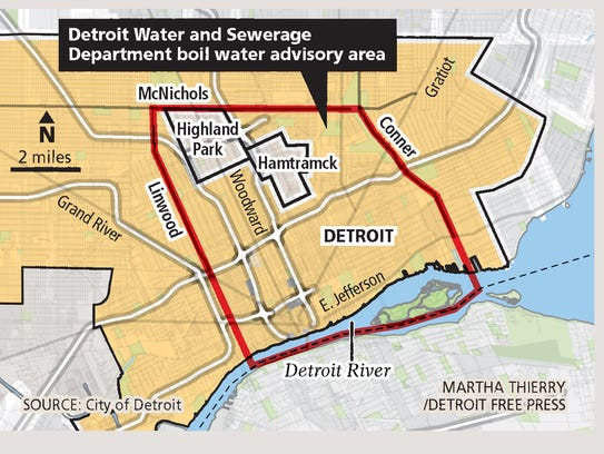 Detroit Water and Sewerage Department boil water advisory