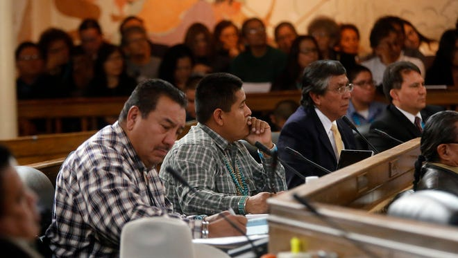 Members Navajo Nation Council meet Jan. 26 for the start of the 2015 Winter Session at the council chamber in Window Rock, Ariz.