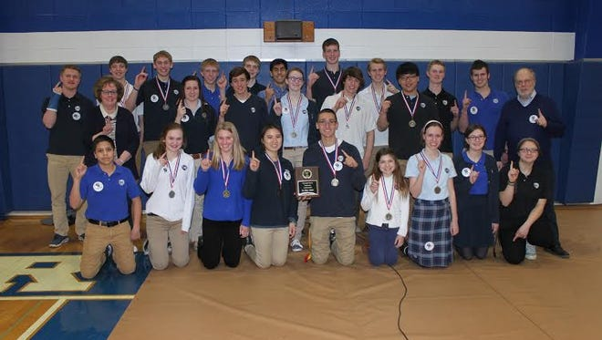 St. Mary's Springs Academy won the Conference Championship with 13 medals, setting a new record.