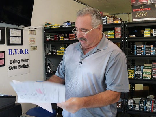 Bill Malcolm owns Jersey Sportsman in Lacey. He wants to expand his business to include guns but so far he has been unable to obtain zoning approval from the town.