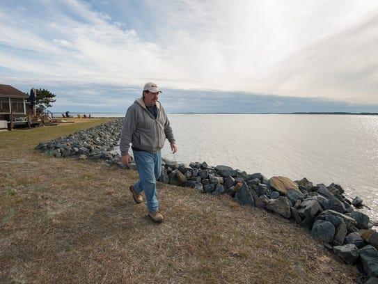 John Iacona, a resident at Rehoboth Bay mobile home