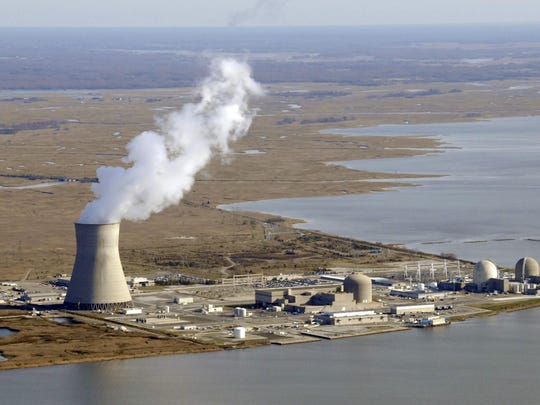 The Salem and Hope Creek nuclear generating plants in Lower Alloways Creek Township, New Jersey.