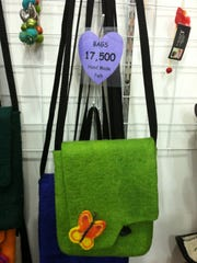 Purse for sale at a Mongolian tourist camp. In order