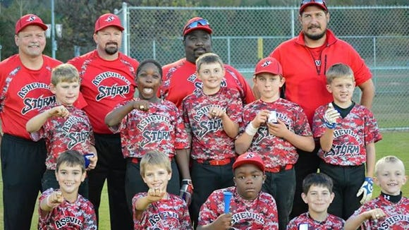 The Asheville Storm 9 and under baseball team.