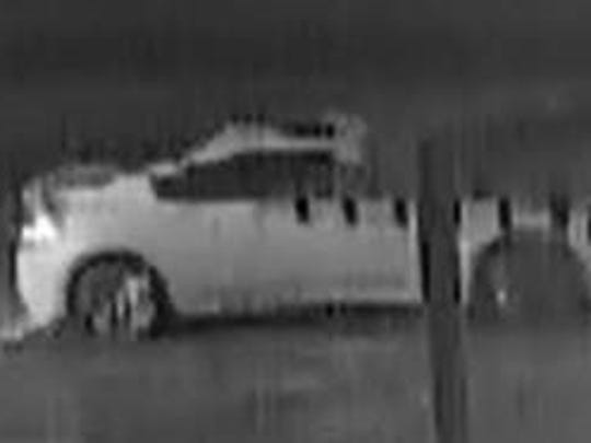 Evansville Police Department has asked anyone with information about the owner of this car to contact investigators. Police believe the driver was involved in knocking down a Virgin Mary statue at property owned by the Catholic Diocese of Evansville.