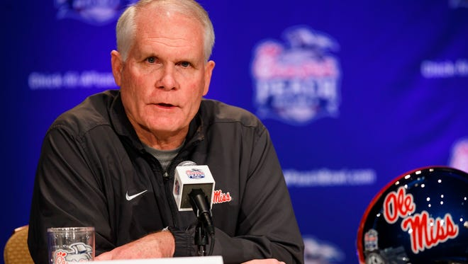 Ole Miss defensive coordinator Dave Wommack will coach the linebackers in 2015.