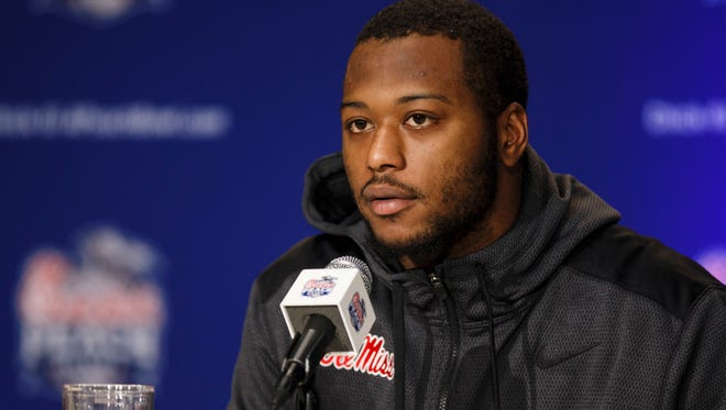 Ole Miss senior C.J. Johnson is moving to middle linebacker.
