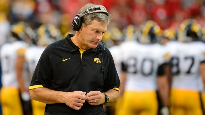 "Iowa coach Kirk Ferentz's explanation for a painful loss to Nebraska? ""That's football."""