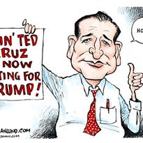 Ted Cruz voting for Trump