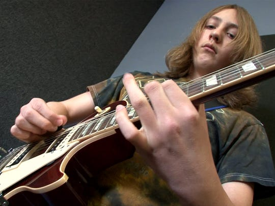 Ryan Graci, 12, Oceanport, practices with other members