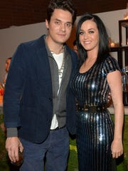 John Mayer, left, and Katy Perry dated on and off for