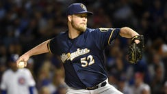 Jimmy Nelson starts for the Brewers tonight.