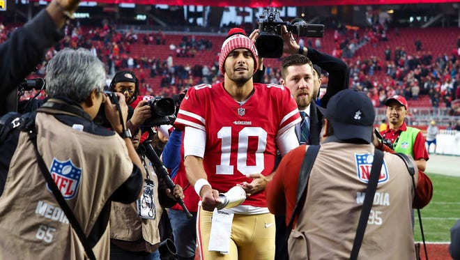 San Francisco 49ers quarterback Jimmy Garoppolo is the highest paid player in the NFL.