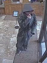 A still image of the man police say robbed VoyageFederal Credit Union on Thursday morning.
