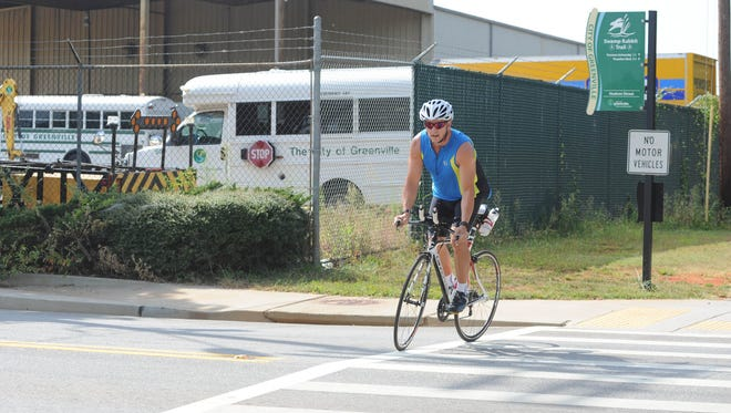 The portion of the Swamp Rabbit Trail between Falls Park and Cleveland Park is scheduled to reopen Friday.