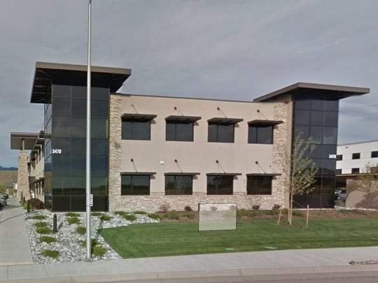 A screen grab from Google Earth showing the Planned Parenthood in Colorado Springs, Colo.