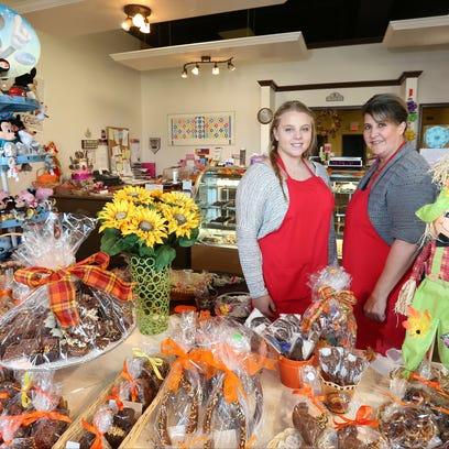 Grace DeRosa, left, and Linda Reiner of Matisse Chocolatier