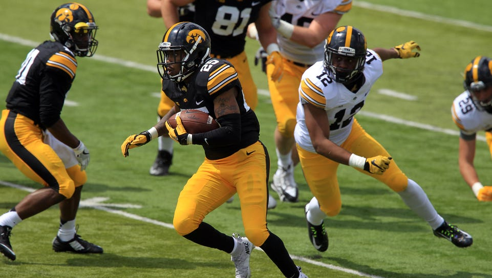 Akrum Wadley showed some nice burst and power at the