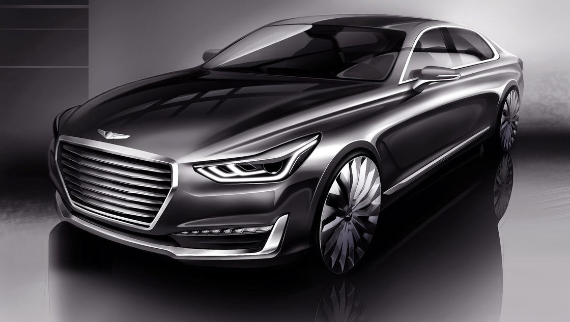 Hyundai Mobile Al >> Hyundai offers peek at new Genesis luxury flagship
