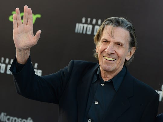 "FILE - In this May 14, 2013 file photo, Leonard Nimoy arrives at the LA premiere of ""Star Trek Into Darkness"" at The Dolby Theater in Los Angeles. Nimoy, famous for playing officer Mr. Spock in ""Star Trek"" died Friday, Feb. 27, 2015 in Los Angeles of end-stage chronic obstructive pulmonary disease. He was 83."