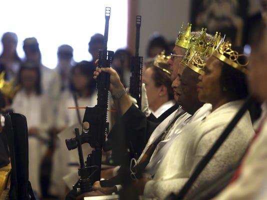 Church Ceremony AR15 Rifles