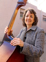Jazzy Gail Gage, a stand-up bassist, will appear Saturday night with the Salem Pops at the Historic Grand Theatre.
