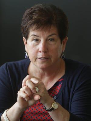 Sue Snyder talks with Detroit Free Press on Thursday September 4, 2014 at DMC's Children's Hospital Specialty Center in Detroit.