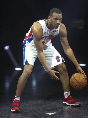 Pistons' Avery Bradley is photographed at media day Sept. 25, 2017 at the Palace in Auburn Hills.