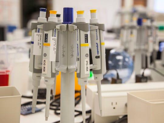 Inside the Intermountain Precision Genomics lab in St. George in 2017.