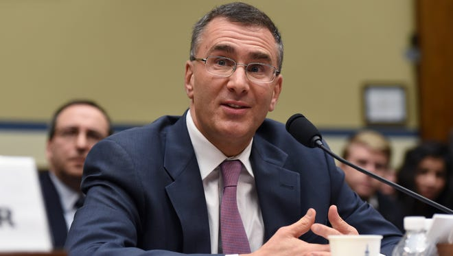 MIT economist Jonathan Gruber testifies on Capitol Hill in Washington, Tuesday before the House Oversight Committee health care hearing.