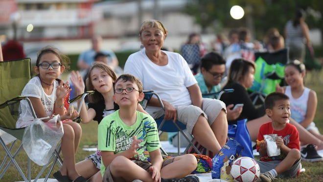 Movies in the Park will take place every Friday at sunset until April 29.