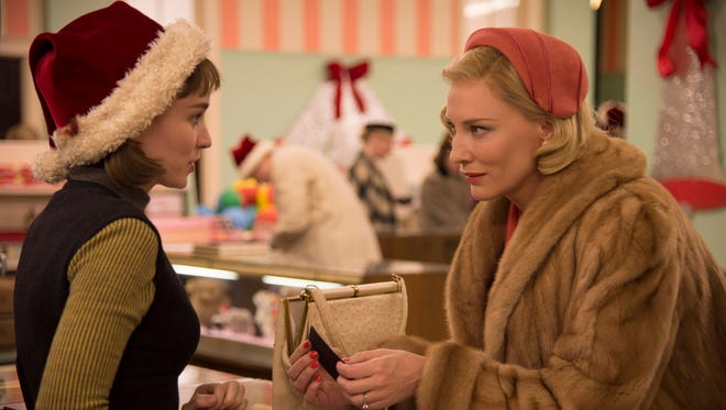 Rooney Mara (left) and Cate Blanchett star in 'Carol.'