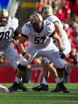 Robert Kugler has helped anchor an improved Purdue offensive line this season.