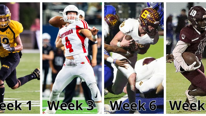 From left to right: Some of the biggest games of the 2020 season involve Denison, Pottsboro, Bells and Sherman.
