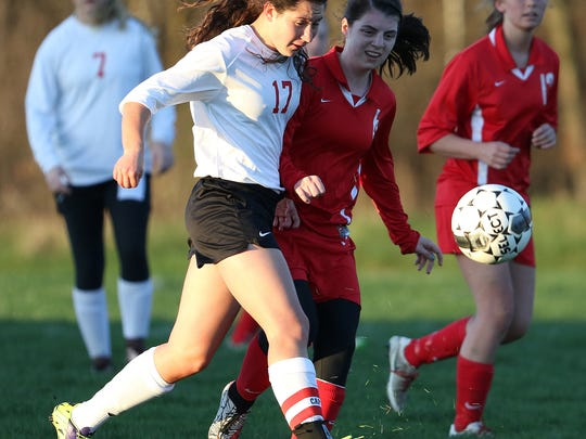 Junior Anna Zajakowski (17) has developed into a talented distributor of the ball for the Stevens Point Area Senior High girls soccer team.