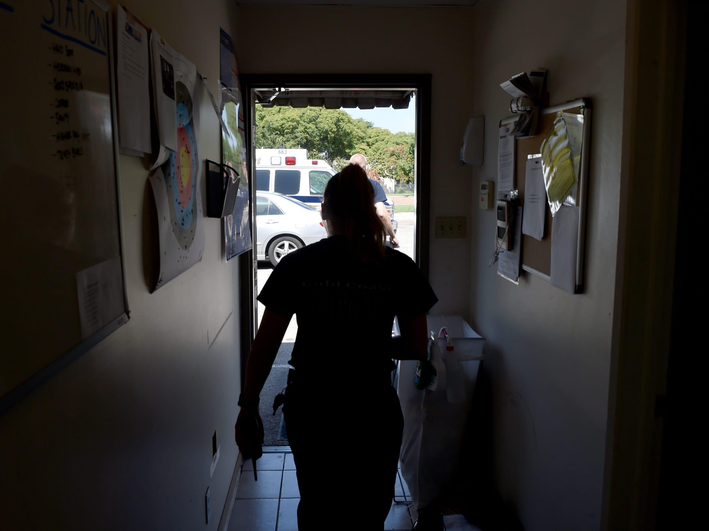 Devon Custodero, an EMT with Gold Coast Ambulance,