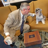 Eric Holcomb on Indiana's first dog, Henry: 'The government life chose him.'